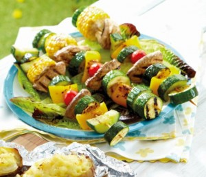 Grilled Balsamic Vegetable Pops