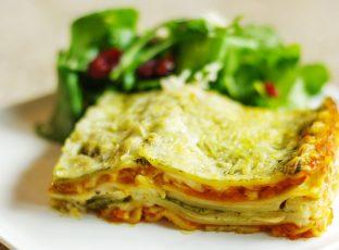 Butternut squash and pesto lasagna