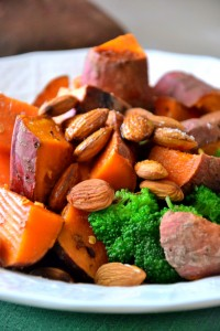 Sweet Potato and Broccoli Salad with Chopped Apples