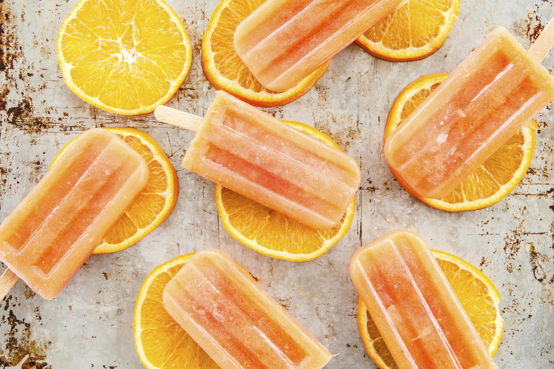 Orange dream pops on orange slices