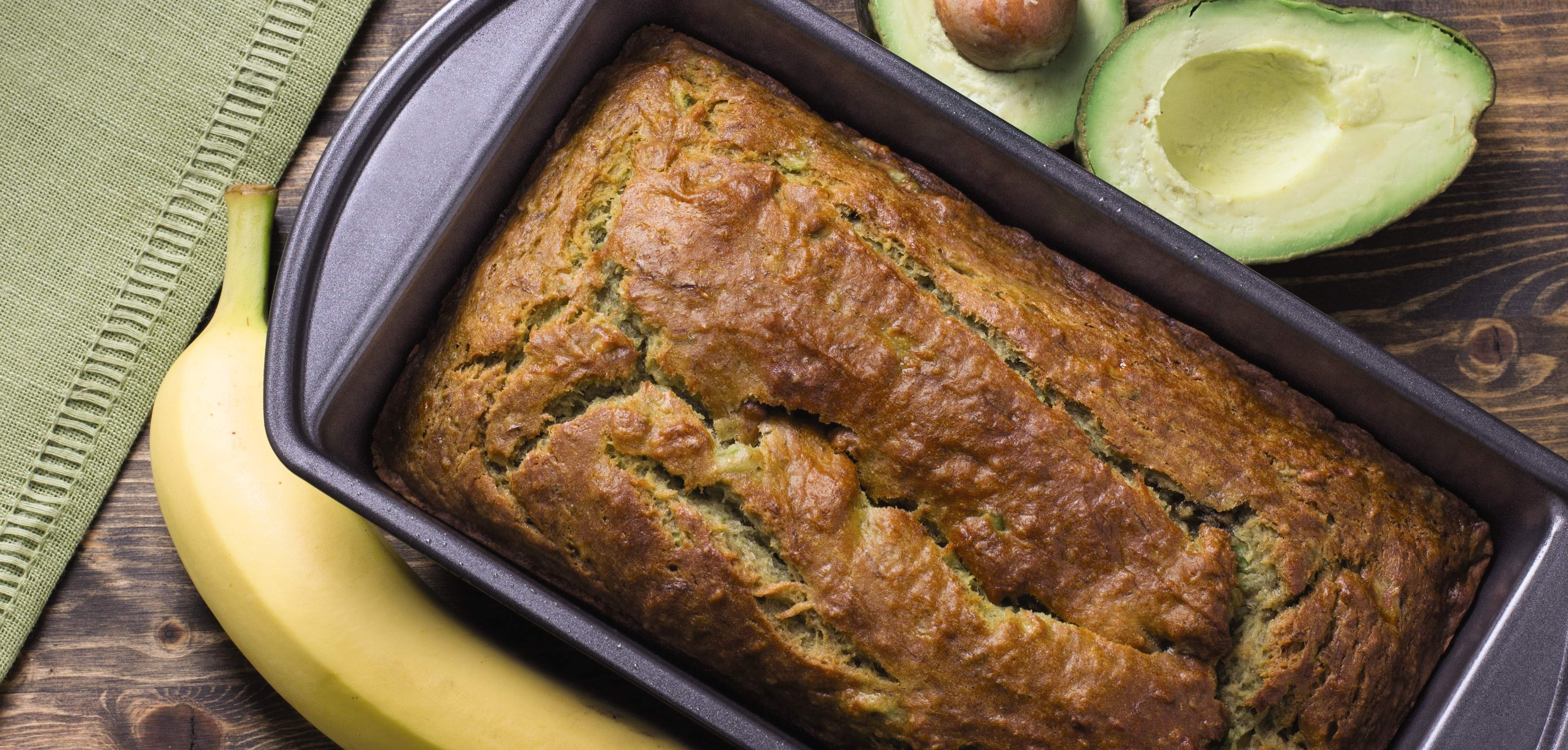 Coconut oil avocado banana bread loaf