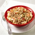 Lobster macaroni and cheese.