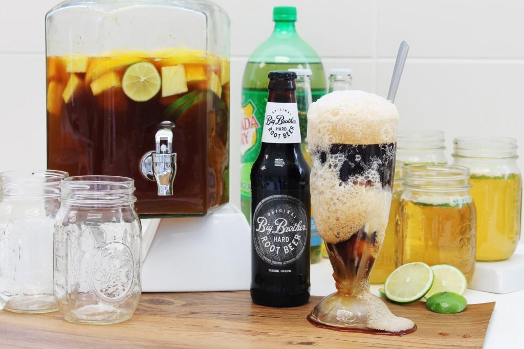 Big brother's root beer float.