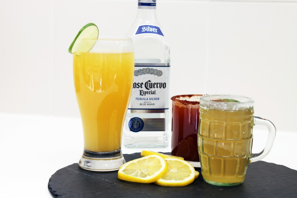 Tequila, beer, and a cocktails.