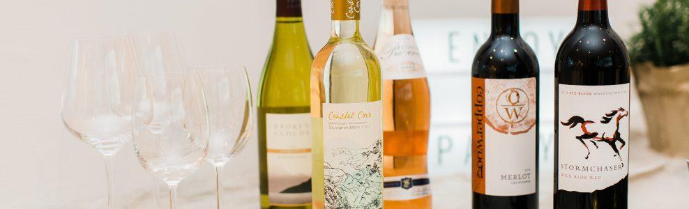 Several bottles of ALDI award winning wine.